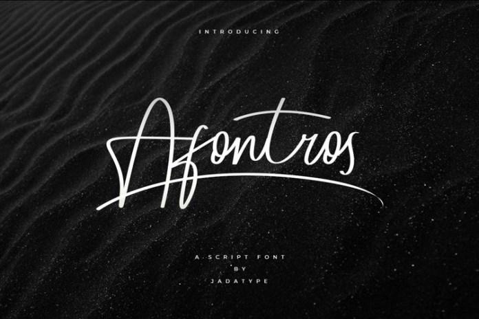 Afontros Handwritten Font