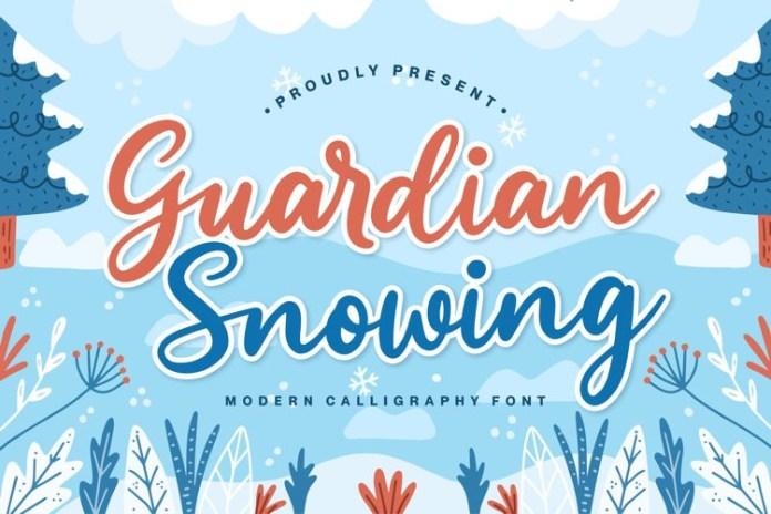 Guardian Snowing Script Font