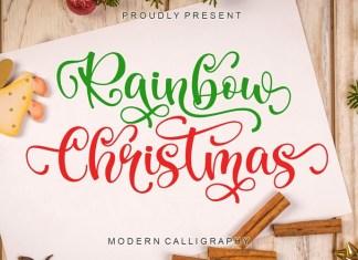 Rainbow Christmas Script Font