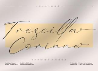 Trescilla Corinne Script Font