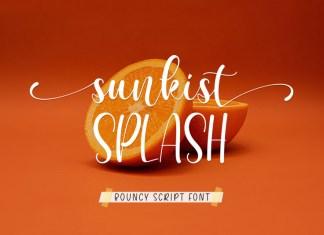 Sunkist Splash Script Font