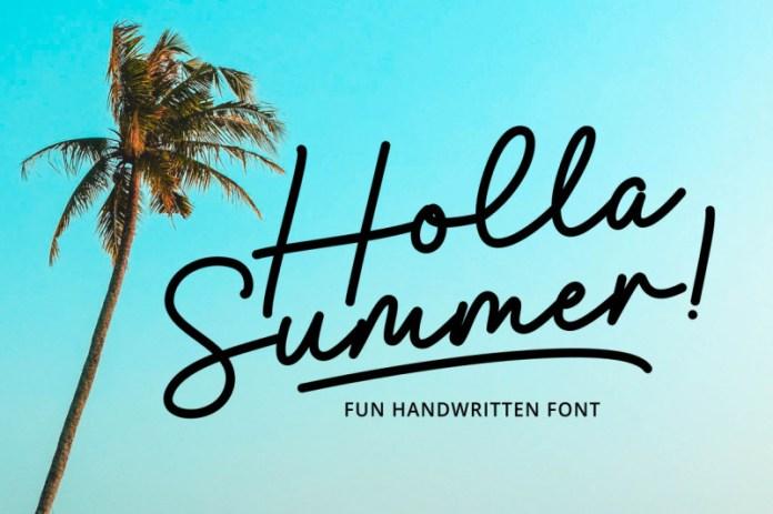 Holla Summer Handwritten Font