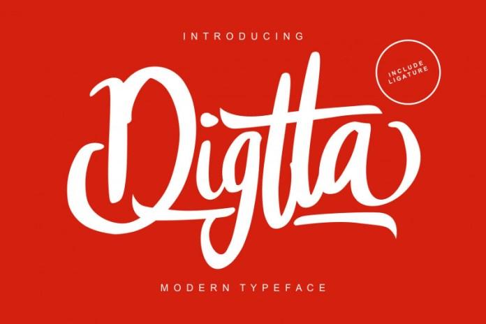Digtta Script Font