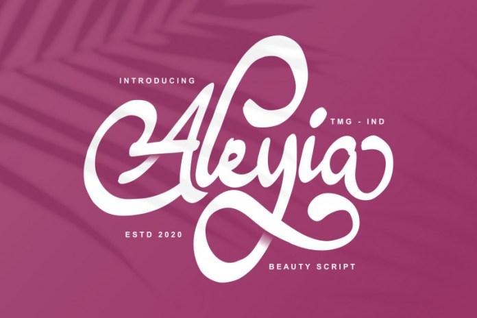 Aleyia Script Font