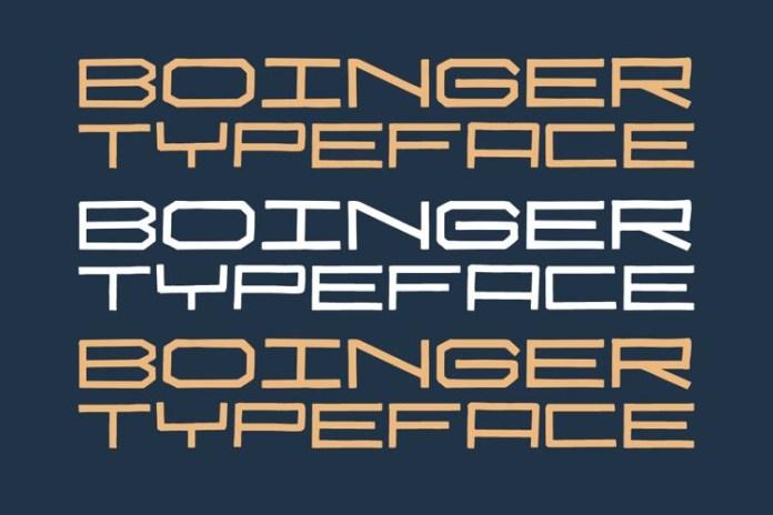 Boinger Display Font