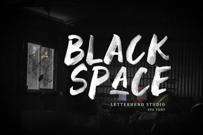 Black Space Brush Font