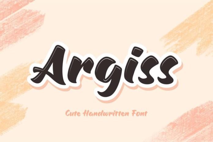 Argiss Brush Font