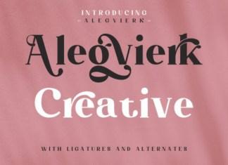 Alegvierk Serif Font