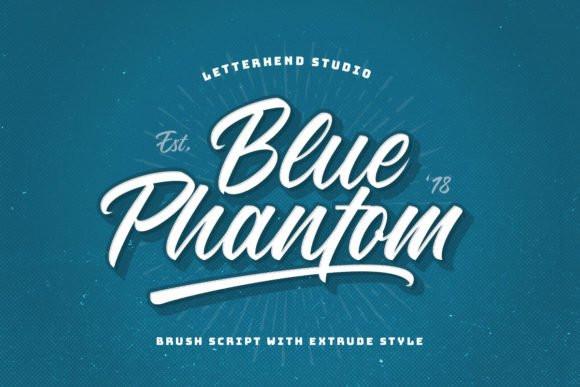 Blue Phantom Script Font