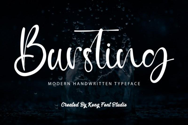 Bursting Script Font