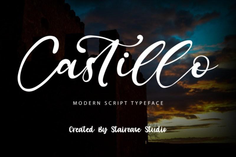 Castillo Script Font