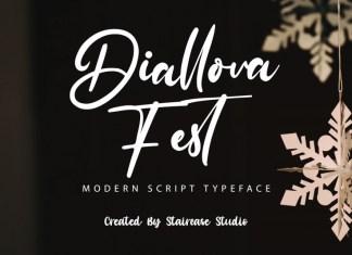Diallova Fest Script Font