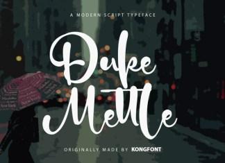 Duke Mettle Script Font