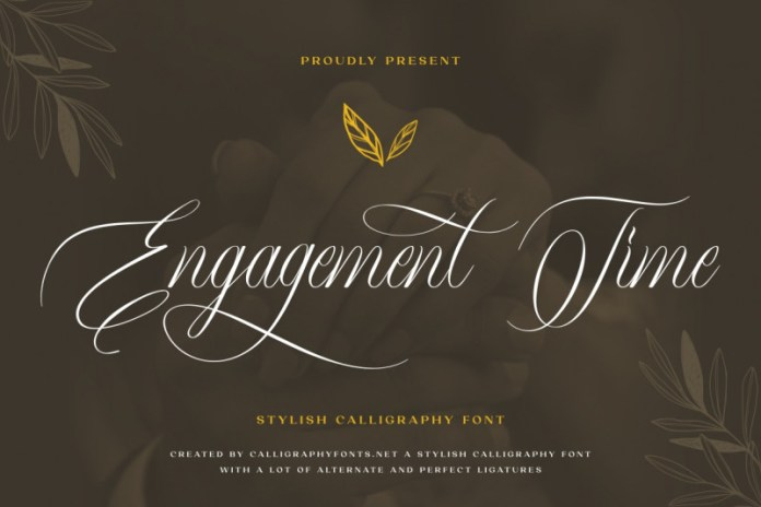 Engagement Time Calligraphy Font