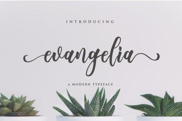 Evangelia Script Font