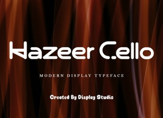Hazeer Cello Display Font