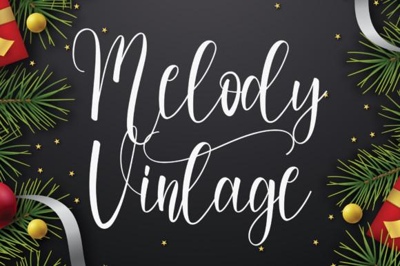 Melody Vintage Script Font