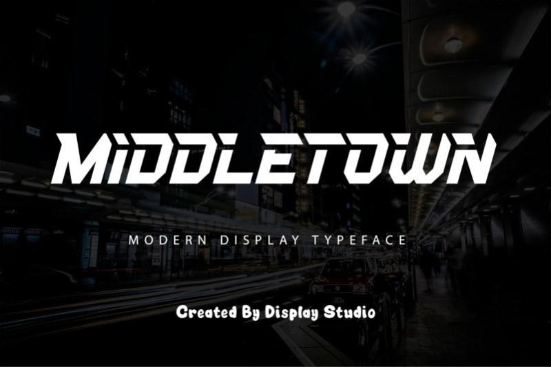 Middletown Display Font