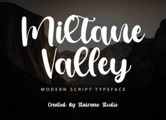 Miltane Valley Script Font