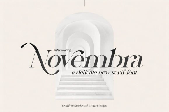 Novembra Serif Font