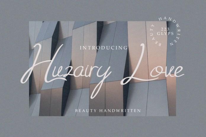 Huzairy Love Handwritten Font