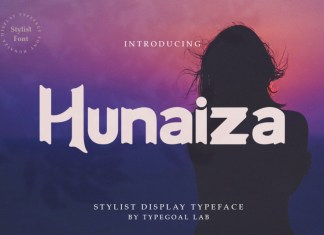 Hunaiza Display Font