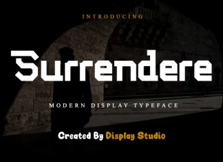 Surrendere Display Font