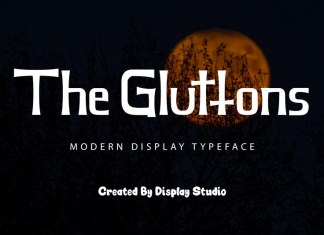 The Gluttons Display Font