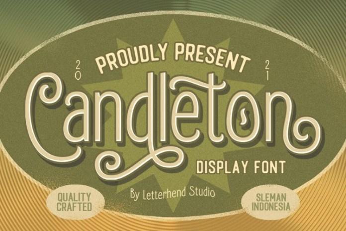 Candleton Display Font