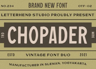 Chopader One Display Font