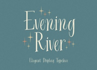 Evening River Display Font
