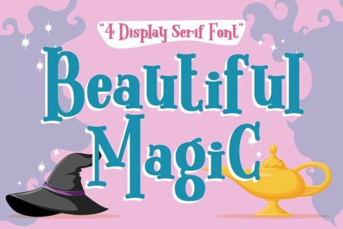 Beautiful Magic Display Font