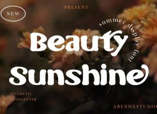Beauty Sunshine Display Font