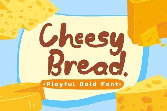Cheesy Bread Display Font