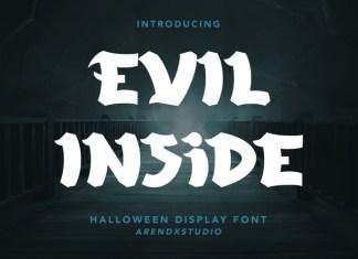 Evil Inside Display Font
