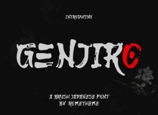 Genjiro Brush Font