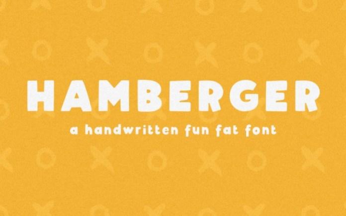 Hamberger Display Font