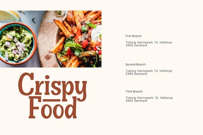 Crispy Food Slab Serif Font