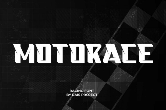 Motorace Display Font