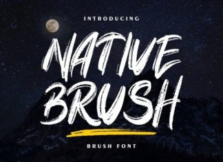 Native Brush Font