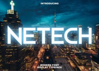 Netech Display Font