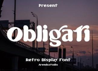 Obligati Display Font