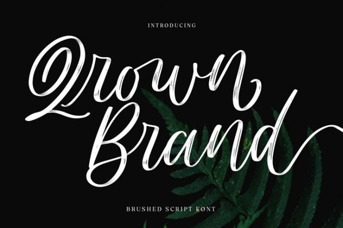 Qrown Brand Brush Font