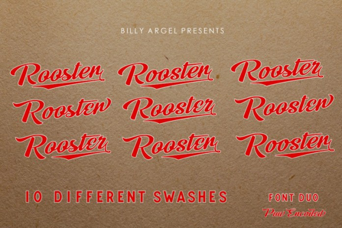 Rooster Script Typeface