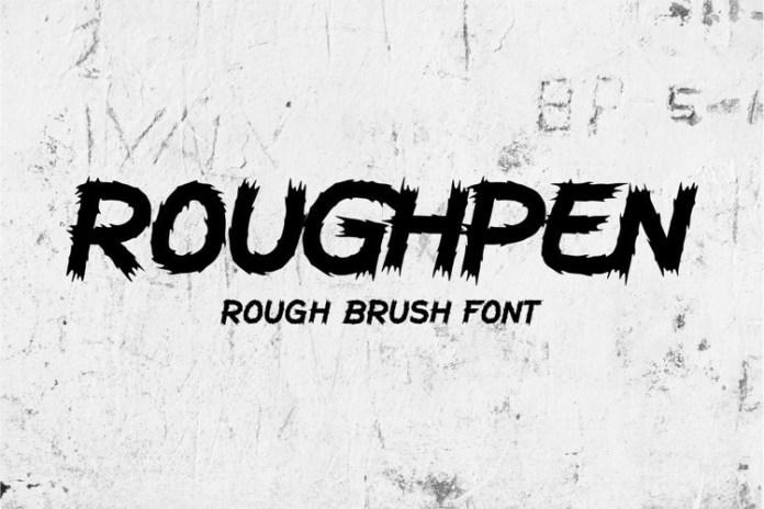 Roughpen Display Font
