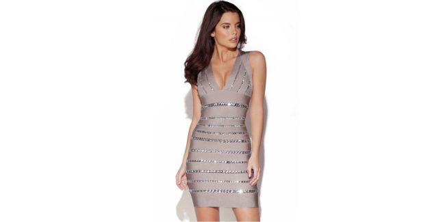 Rochie bandage Christals gray