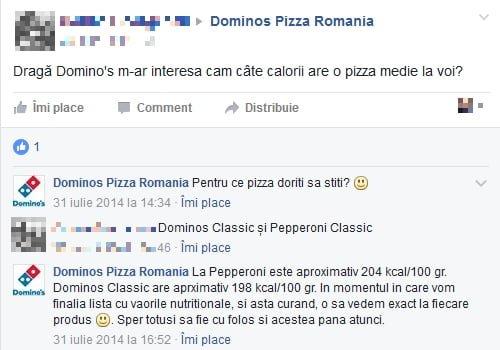 cate calorii are o pizza?