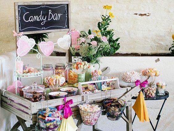 Bars à thème bonbon mariage