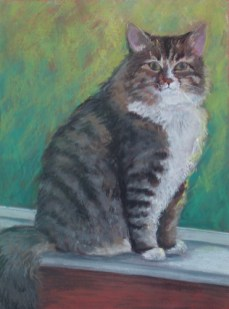 "Katie the Lady, pastel, 17""x23"" ©Charlotte B. DeMolay"