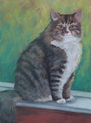 """Katie the Lady, pastel, 17""""x23"""" ©Charlotte B. DeMolay"""